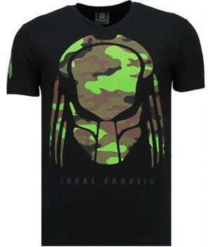 Local Fanatic Predator Rhinestone - T Shirt Herr - 5757Z - Svart