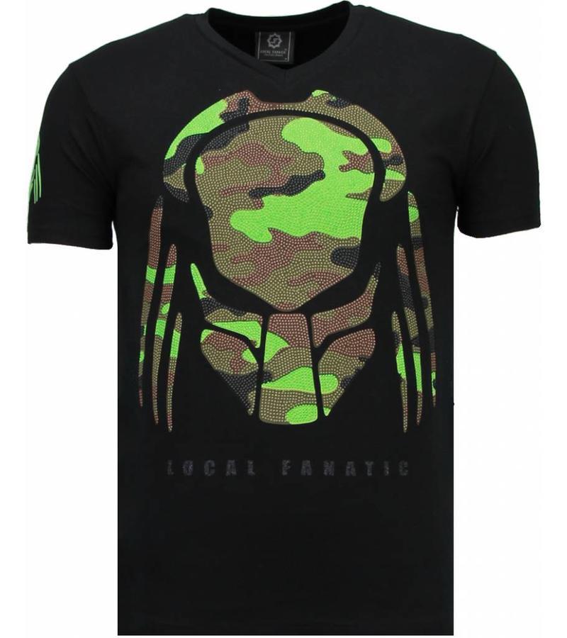 Local Fanatic Predator Rhinestone - T Shirt Herr - 5757Z - Svart
