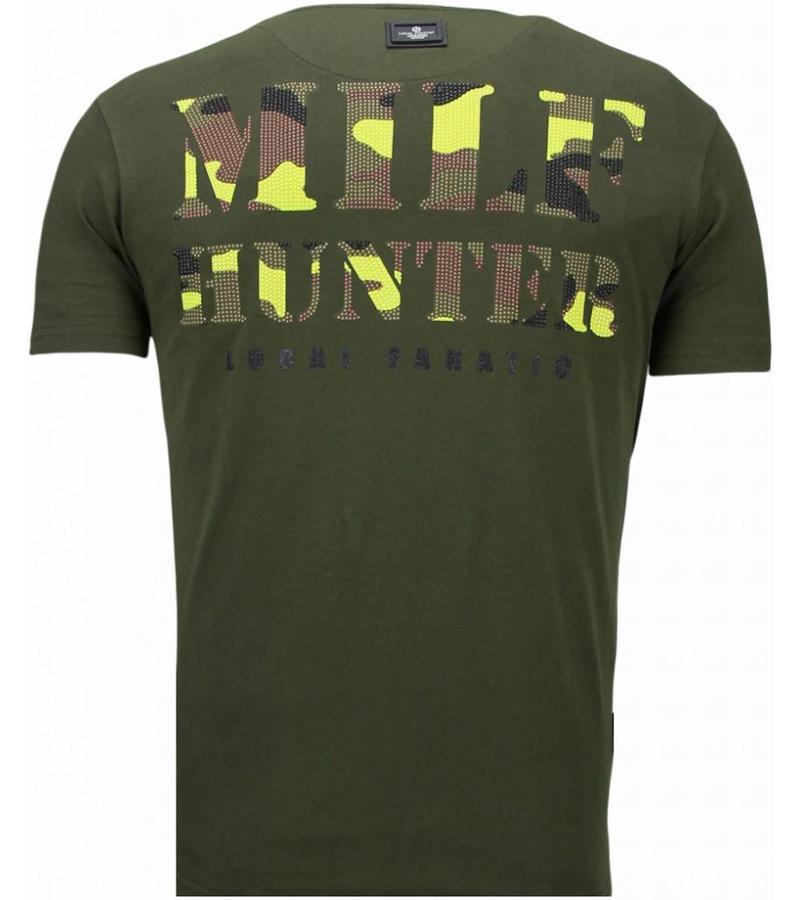 Local Fanatic Predator Rhinestone - Herr T Shirt - 5757G - Grön