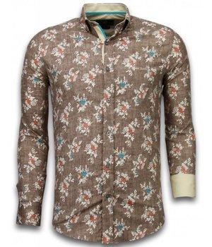 Gentile Bellini Billiga skjortor för män - Tuffa skjortor herr - 2016BR - Brun