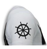 Local Fanatic The Sailor Man Popeye Rhinestone - Herr T Shirt - 5760W - Vit