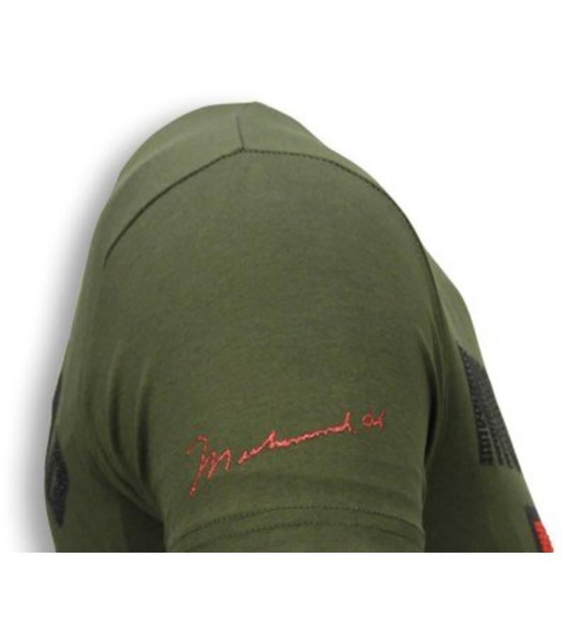 Local Fanatic Muhammad Ali Rhinestone - T Shirt Herr - 5762G - Grön