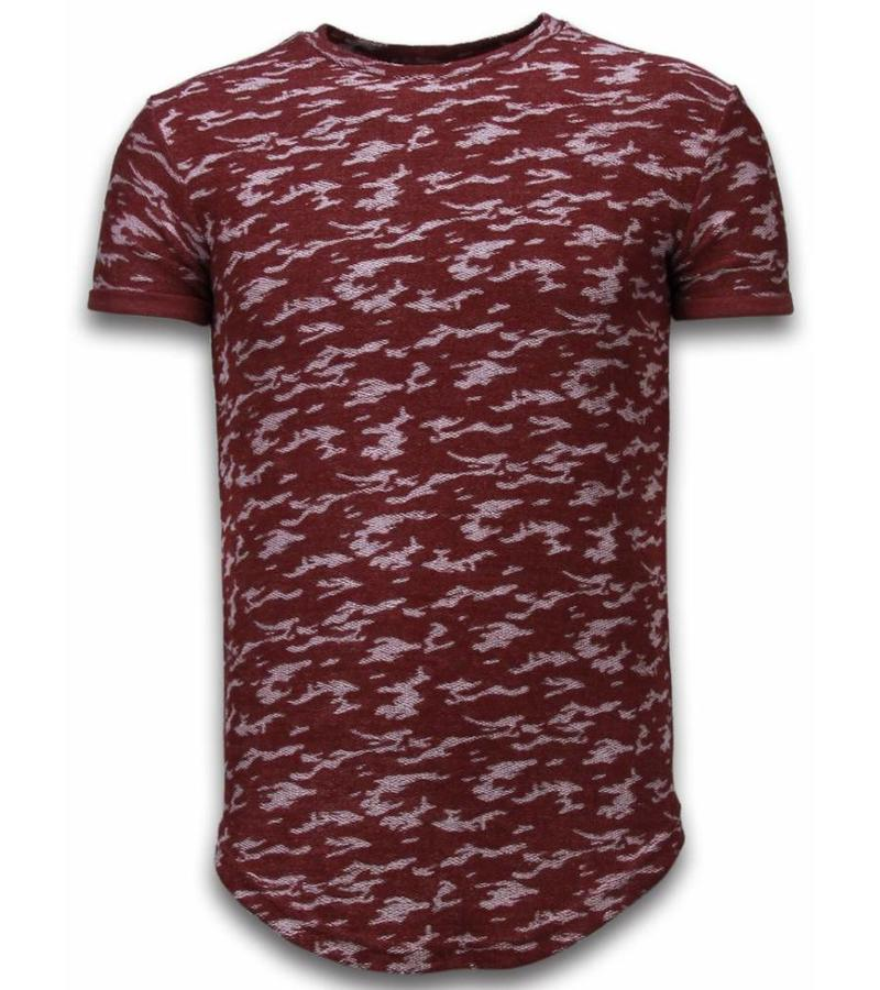 John H Camouflage  Long Fit Army Pattern - Herr T Shirt - SW330BR - Bordeaux