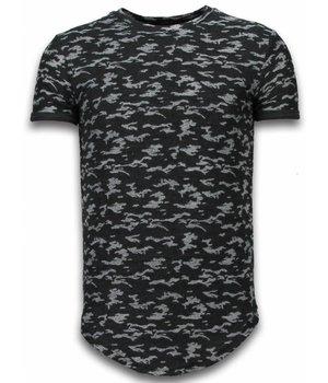 John H Camouflage Long Fit Army - Herr T Shirt - SW330Z - Svart