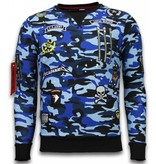 Local Fanatic Camo Embriordry Sweater Patches - Herr Tröja - LF-100B - Blå