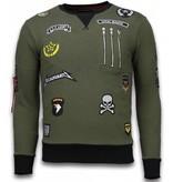 Local Fanatic Basic Embriordry Sweater Patches - Män Tröjor - LF-100G - Grön