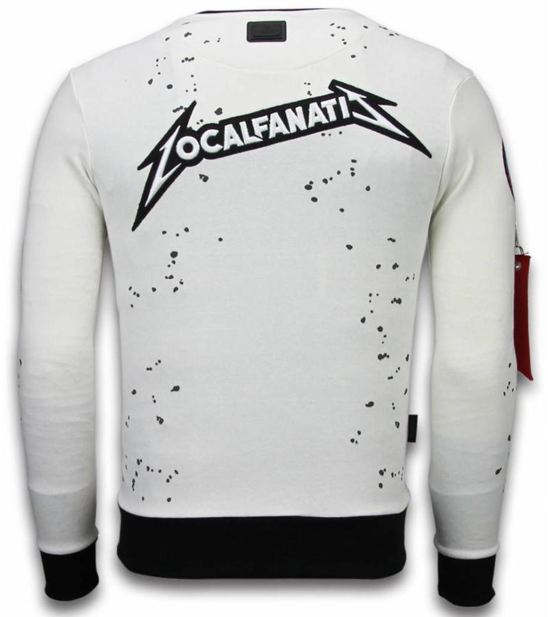 Local Fanatic Basic Embriordry Sweater Patches - Tröjor Män - LF-100W - Vit