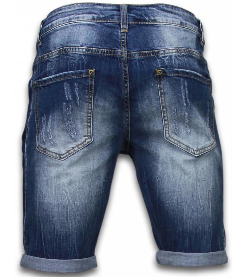Enos Billiga shorts för män - Jeansshorts långa herr - J-961B - Blå