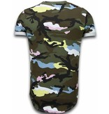 Uniplay Camouflage Long Fit Shirt Army - T Shirt Herr - UP-T127P - Ros