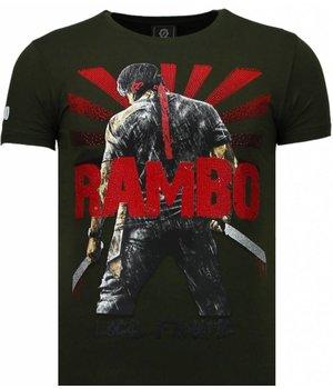 Local Fanatic Rambo Shine Rhinestone - T Shirt Herr - 5769G - Grön