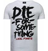 Local Fanatic Rambo Shine Rhinestone - Herr T Shirt - 5769W - Vit
