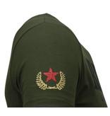 Local Fanatic Skull Rebel Rhinestone - T Shirt Herr - 5776G - Grön