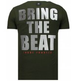 Local Fanatic Skull Bring The Beat - T Shirt Herr - 5779G - Grön