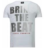 Local Fanatic Skull Bring The Beat - Herr T Shirt - 5779W - Vit