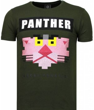 Local Fanatic Panther For A Cougar Rhinestone T Shirt Herr - 5780G - Grön