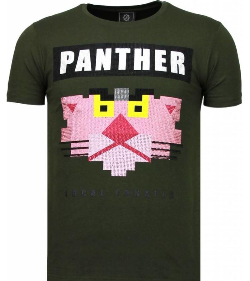 Local Fanatic Panther For A Cougar Rhinestone T Shirt Herr - 5780G - Grön