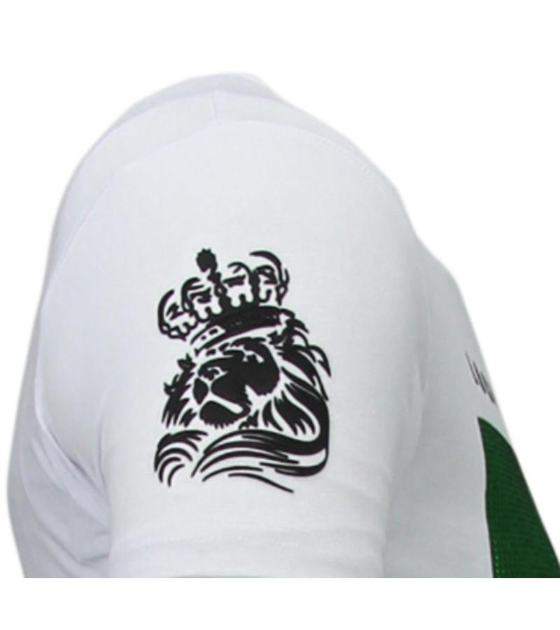 Local Fanatic Soul Rebel Bob Rhinestone - Herr T Shirt - 5778W - Vit