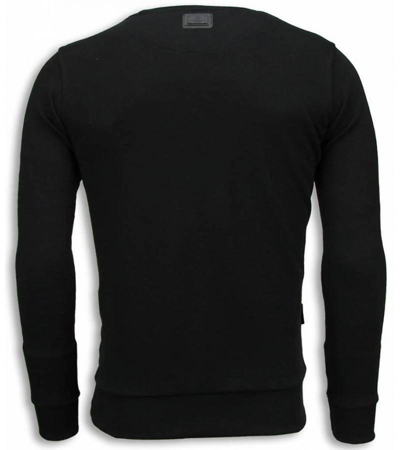 Local Fanatic Monroe Bang Bang Rhinestone - Sweatshirt Herr - 6034Z - Svart