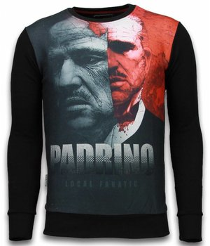 Local Fanatic El Padrino Two Faced Sweater - Herr Tröja - 6039Z - Svart