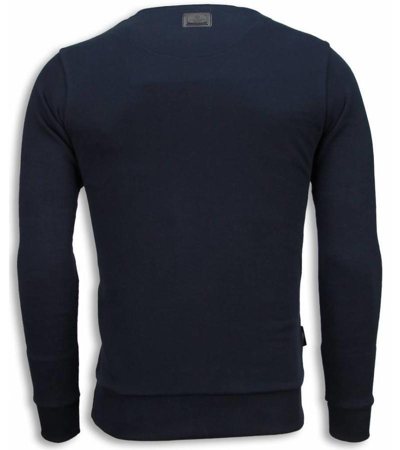 Local Fanatic The Sailor Man Rhinestone Sweater - Herr Tröja - 6037B - Svart