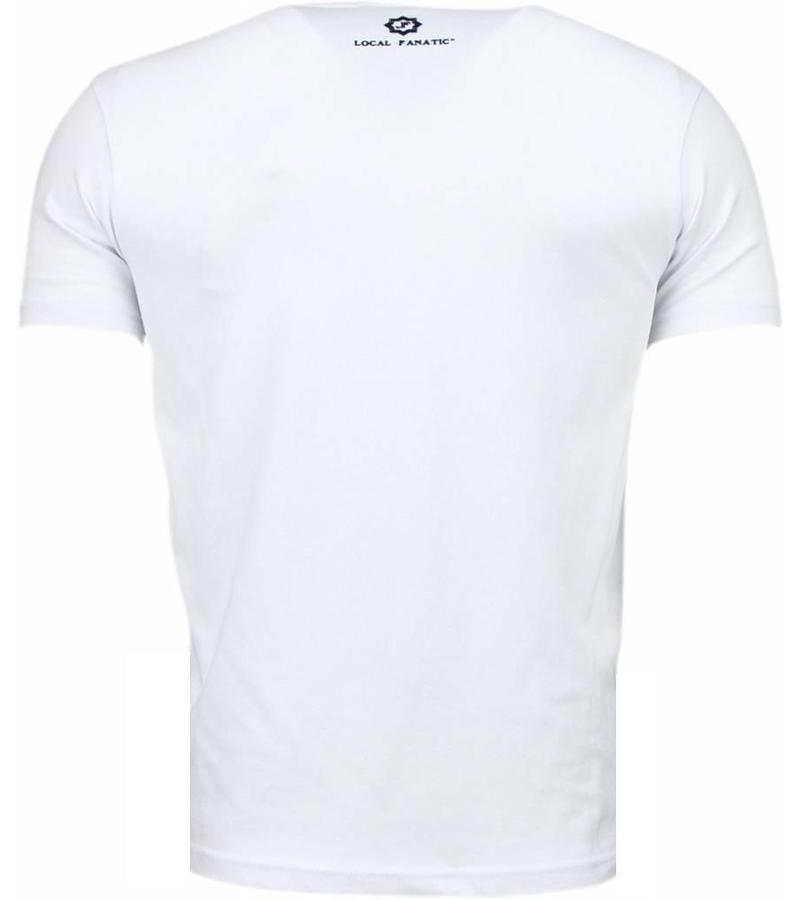 Local Fanatic Playtoy SummerJam Rhinestone - Herr T Shirt - 5965 - Vit
