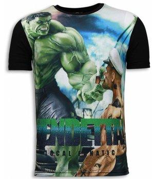 Local Fanatic Vendetta - Digital Rhinestone T-shirt - Zwart