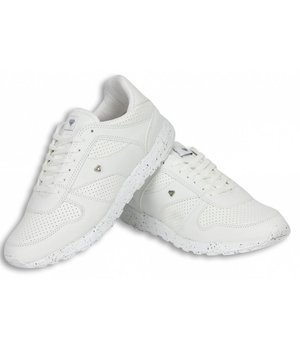 Cash Money Sommarskor Man - Herr Sneakers Low Runners - Vit