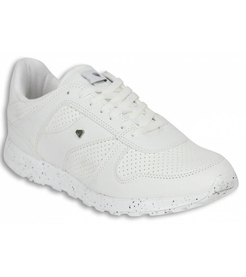 Cash Money Sommarskor Man - Herr Sneakers Low Runners - Vit