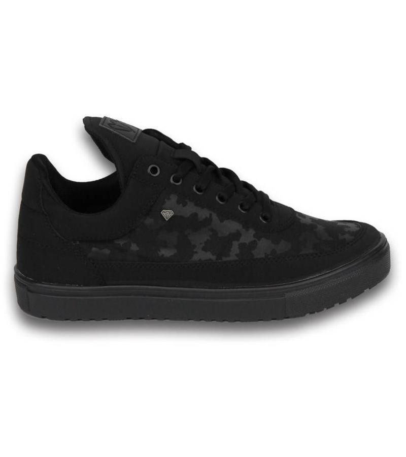 Cash Money Heren Schoenen - Heren Sneaker Low Camouflage Side - Zwart