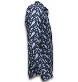 Gentile Bellini Klassiska skjortor män - Billiga kläder herr - 2027 - Blå