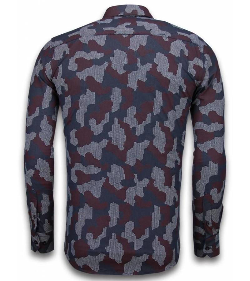 Gentile Bellini Slim fit stretch shirt - Mönstrad skjorta till kostym - 2040 - Svart