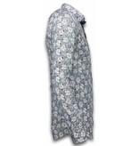 Gentile Bellini Moderna skjortor - Skjorta med blommönster - 2024 - Blå