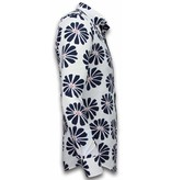 Gentile Bellini Skjorta med blommönster - Snygga sommarskjortor - 2034 - Vit