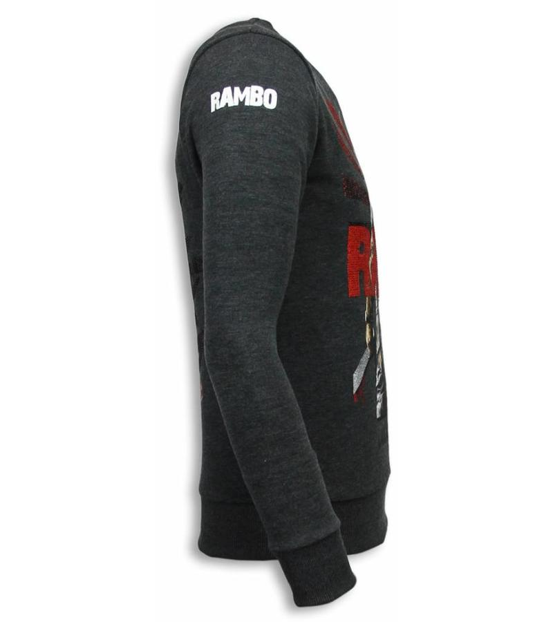 Local Fanatic Rambo Rhinestone Sweater - Sweater Herr - 5910A - Stenkol