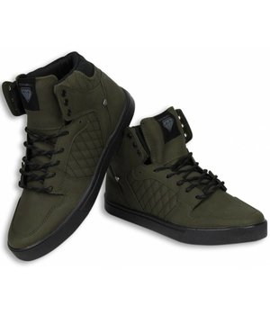Cash Money Märkesskor Billigt - Herr Sneakers High - Khaki