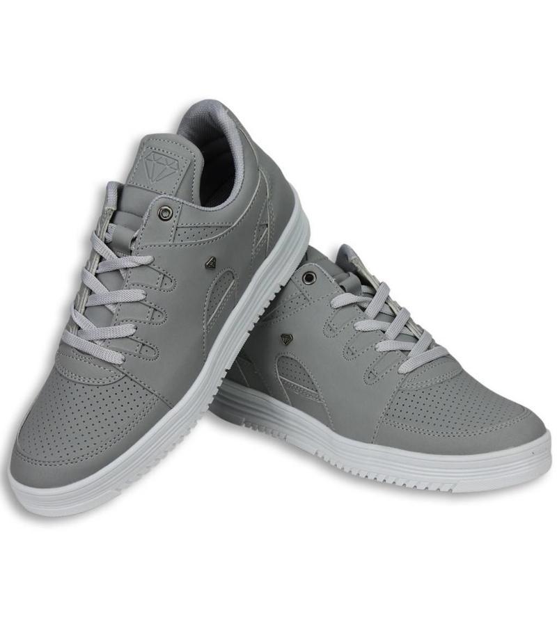 Cash Money Skor Snygga - Snygga Herr Sneakers Low - Grå