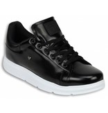 Cash Money Heren Schoenen - Heren Sneaker Skool Low - Zwart