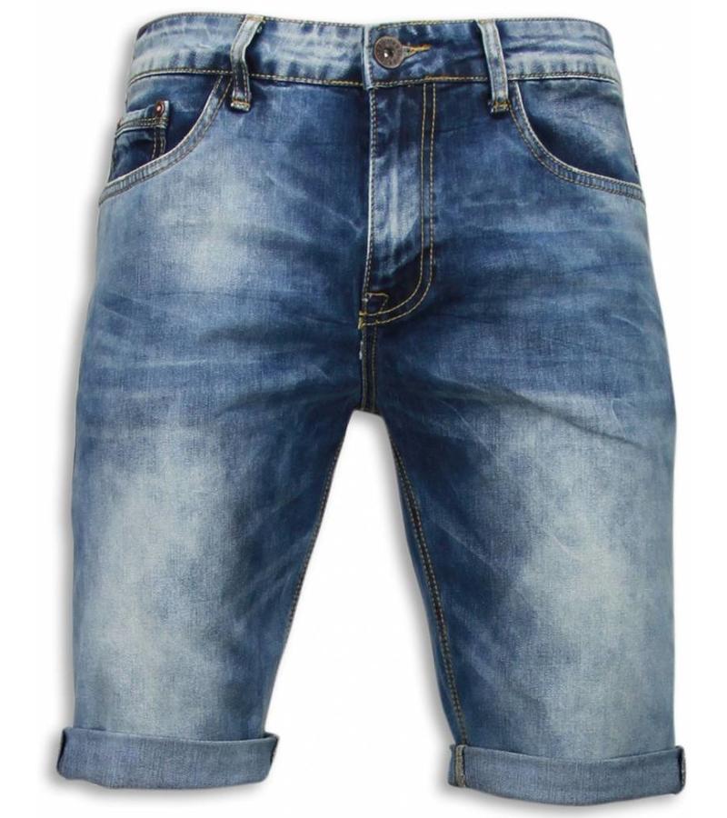 Black Ace Snygga shorts män - Korta jeansshorts herr - B079 - Blå