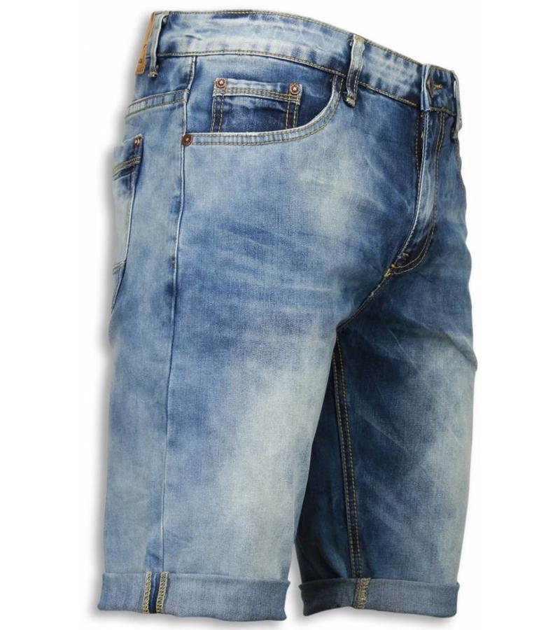 korta jeansshorts dam