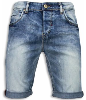 Black Ace Slitna shorts herr -  Ljusa jeansshorts man  - B101 - Blå