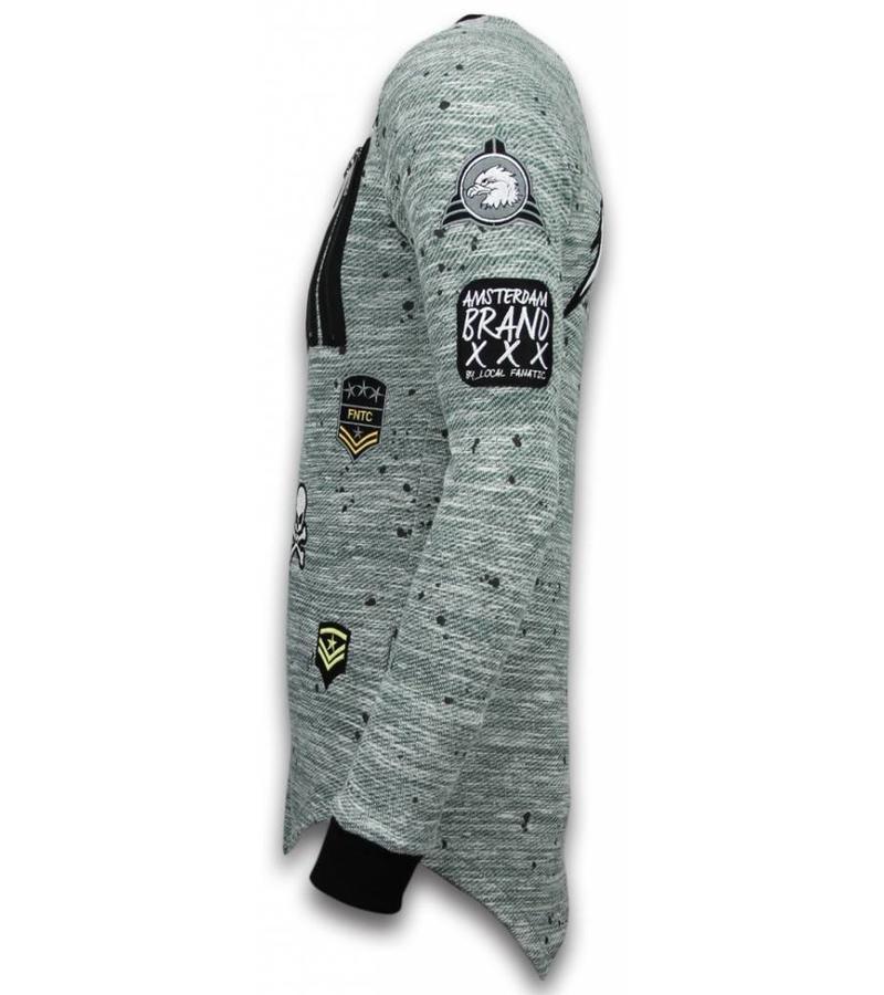 Local Fanatic Longfit Embriordry Patches US Army - Herr Tröja - LF-101/2G -Grön