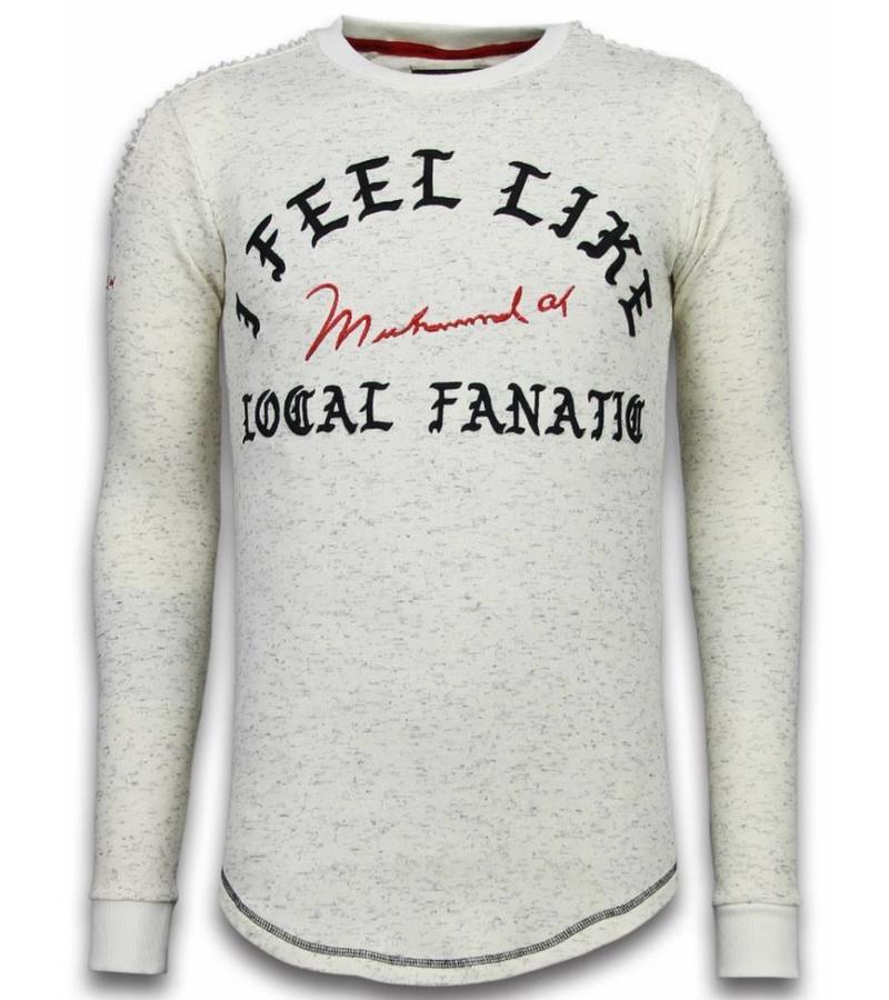 Local Fanatic Longfit I Feel Like Muhammad - Sweater Herr - LF-105/2 - Beige