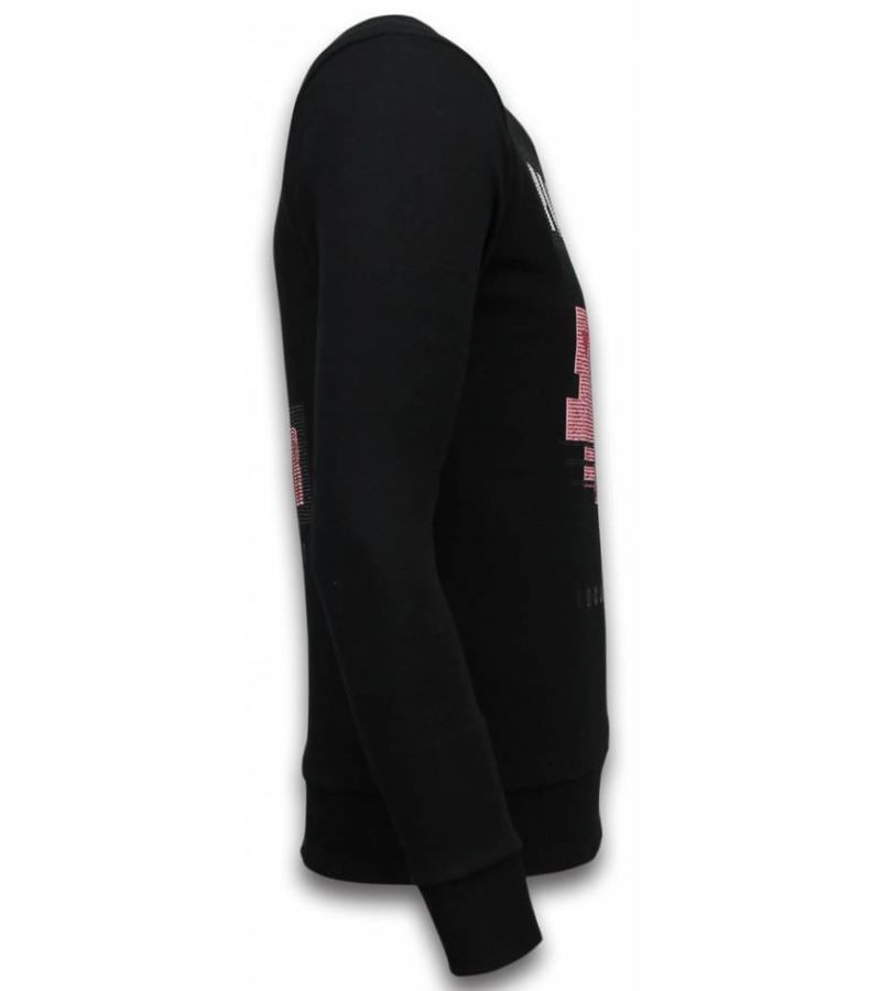 Local Fanatic Pink Panther Rhinestone Sweater - Tröja Herr - 5915Z - Svart