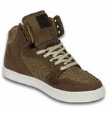 Cash Money Höst Vinter Skor - Herr Sneakers High - Riff Taupe