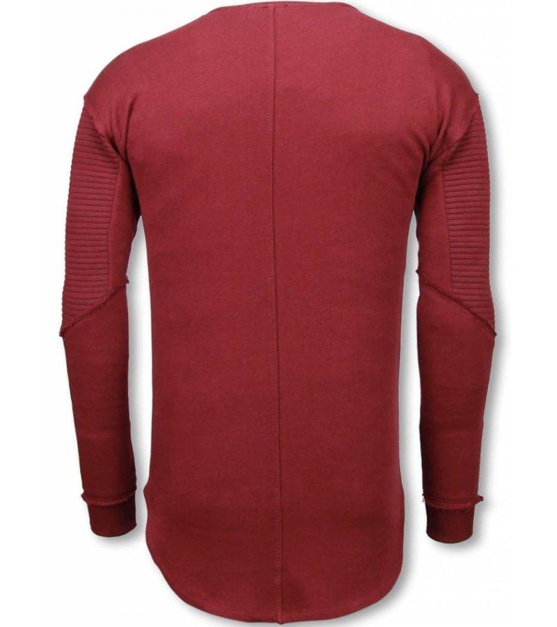 Uniplay Longfit Sweater Damaged Look - Tröja Herr - UP-T117B - Bordeaux