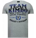 Local Fanatic Kimbo Slice Rhinestone - T Shirt Herr - 5766G- Grå