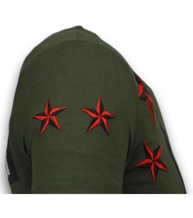 Local Fanatic Marilyn Rockstar Rhinestone - T Shirt Herr - 6005G - Grön