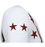 Local Fanatic Marilyn Rockstar Rhinestone - Herr T Shirt - 6005W - Vit