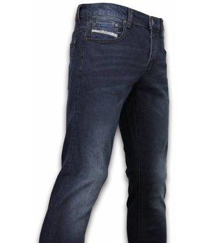 Orginal Ado Slimmade jeans herr - Billiga killjeans - A-1779 - Mörk Blå