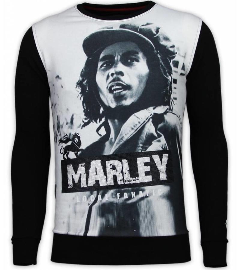 Local Fanatic Bob Marley Digital Rhinestone - Herr Tröja - 13-6240 - Svart